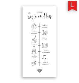 www.Robin.cards Trouwkaarten luxe enkel lang Joyce en Hans