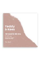 www.Robin.cards Trouwkaarten luxe enkel vierkant Kees en Teddy