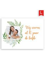 www.Robin.cards Trouwkaart luxe enkel rechthoek Bas en Cloe