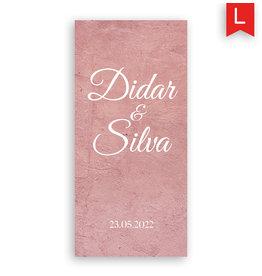 www.Robin.cards Trouwkaarten luxe enkel lang Didar en Silva