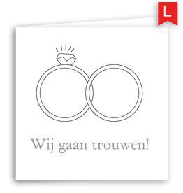 www.Robin.cards Trouwkaart luxe vierkant gevouwen Joppe en Lauren
