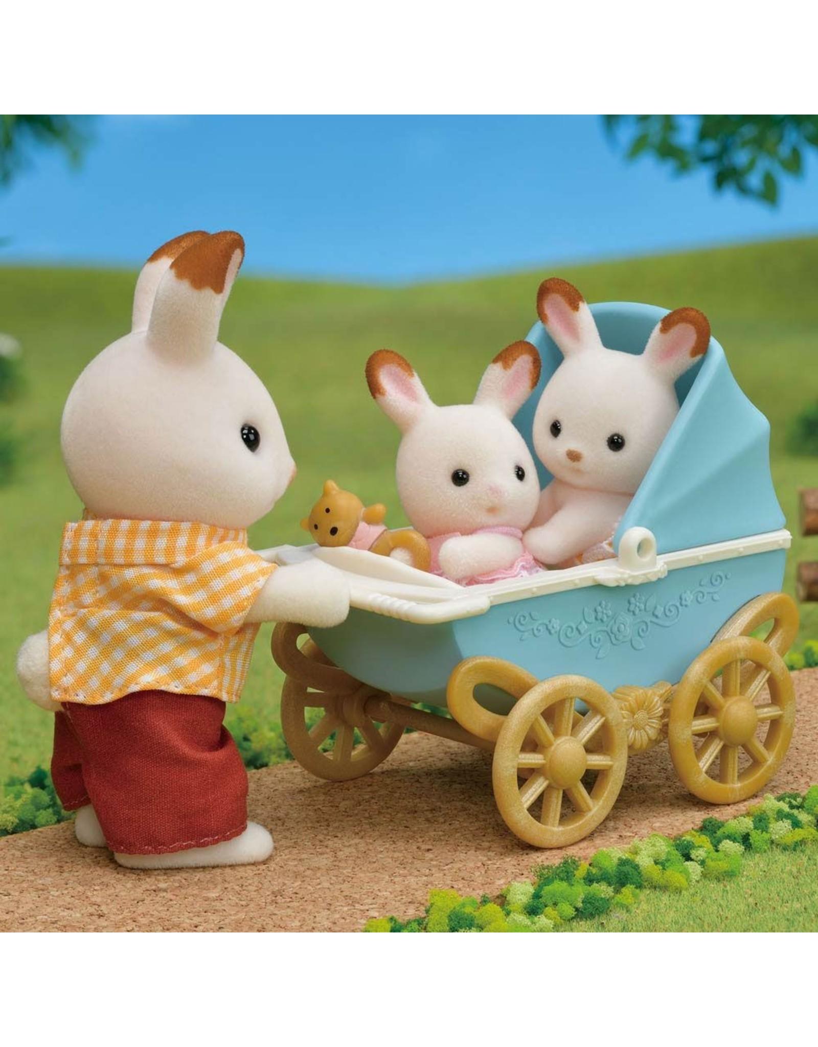 Sylvanian Families Sylvanian Families Set Tweeling Chocoladekonijn (kinderwagen)
