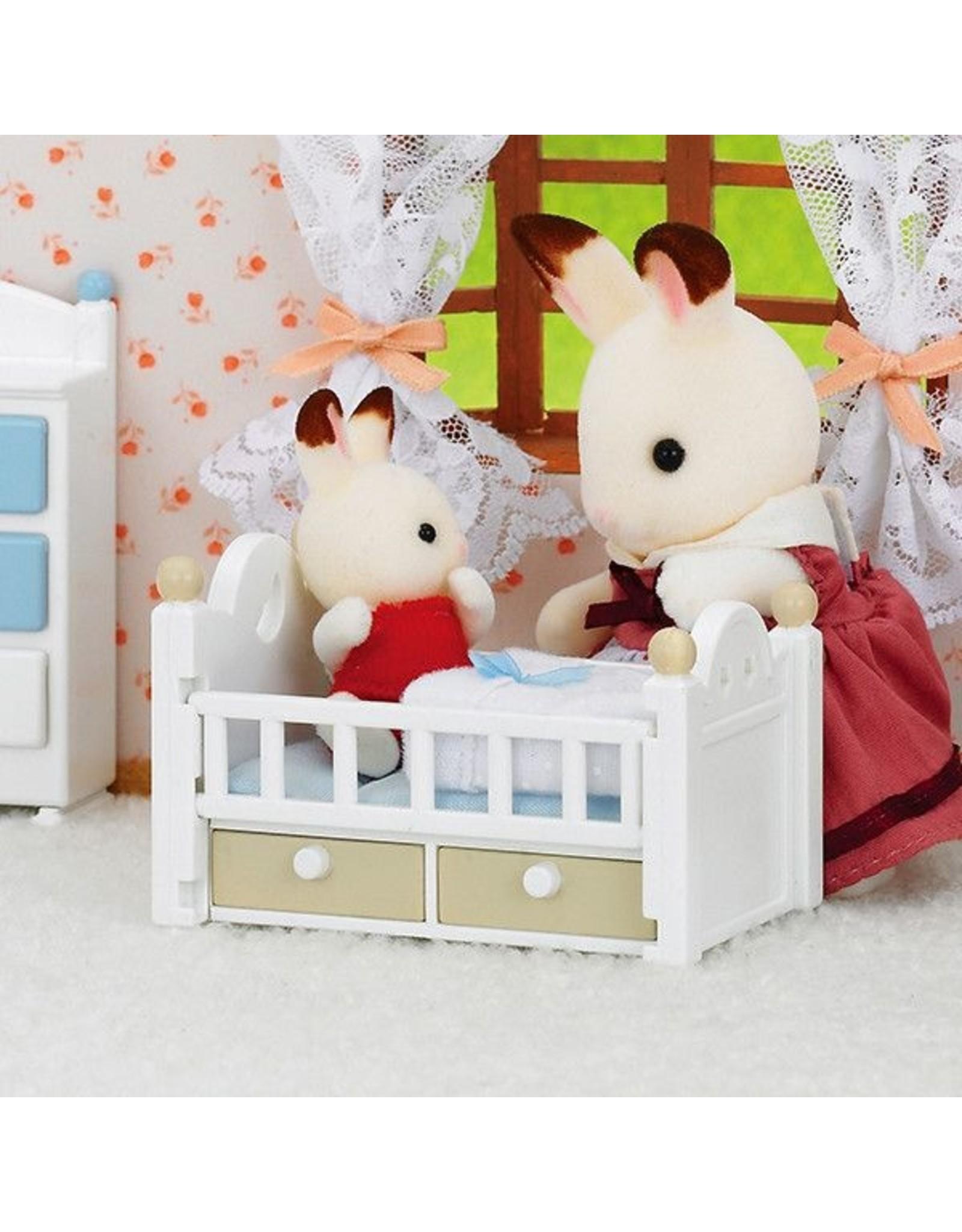 Sylvanian Families Sylvanian Families Set Baby Chocoladekonijn (babybedje)