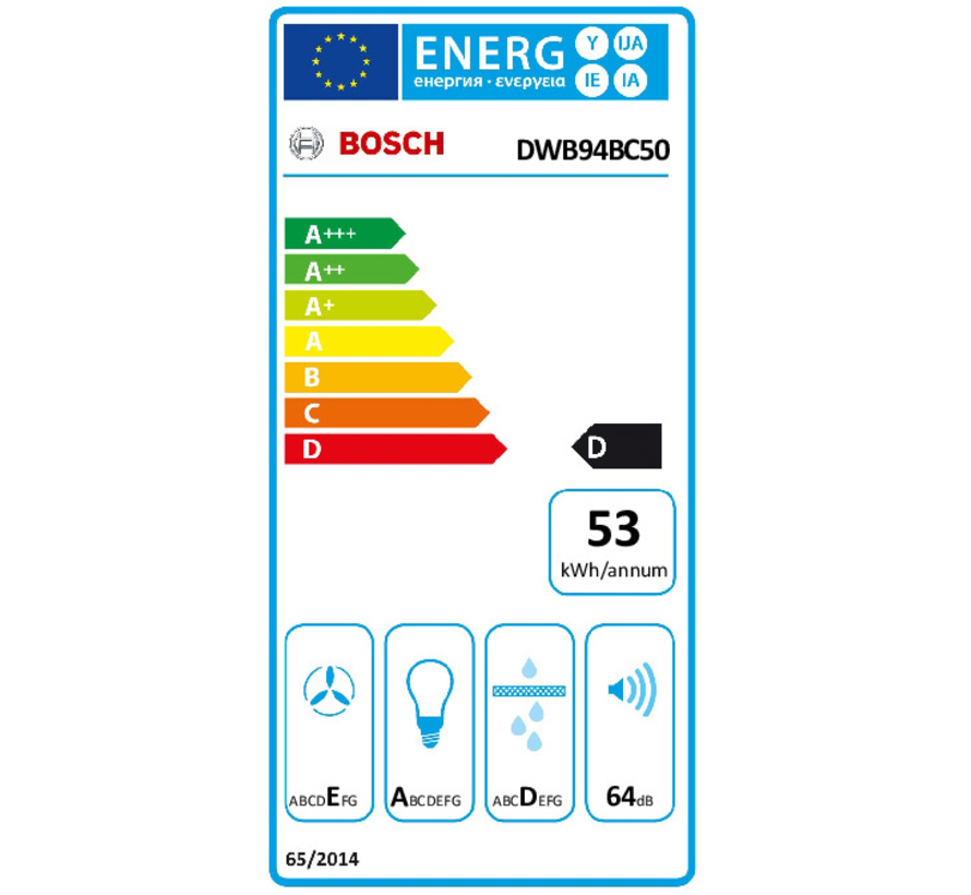 Bosch DWB94BC50 - Wandschouw afzuigkap