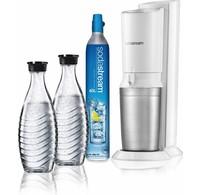 Sodastream SodaStream Crystal White Megapack incl. 2 glazen karaffen en 60L CO2 cilinder