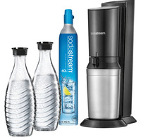 Sodastream SodaStream Crystal Megapack Black + 2 karaffen en 60L CO2 cilinder