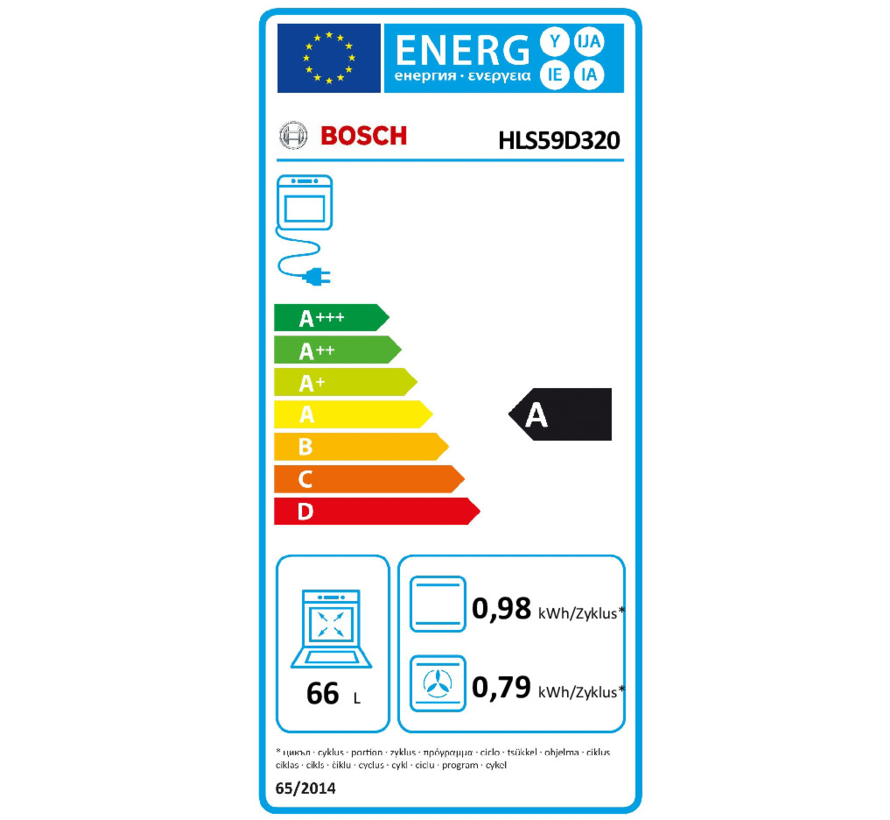 Bosch HLS59D320 fornuis
