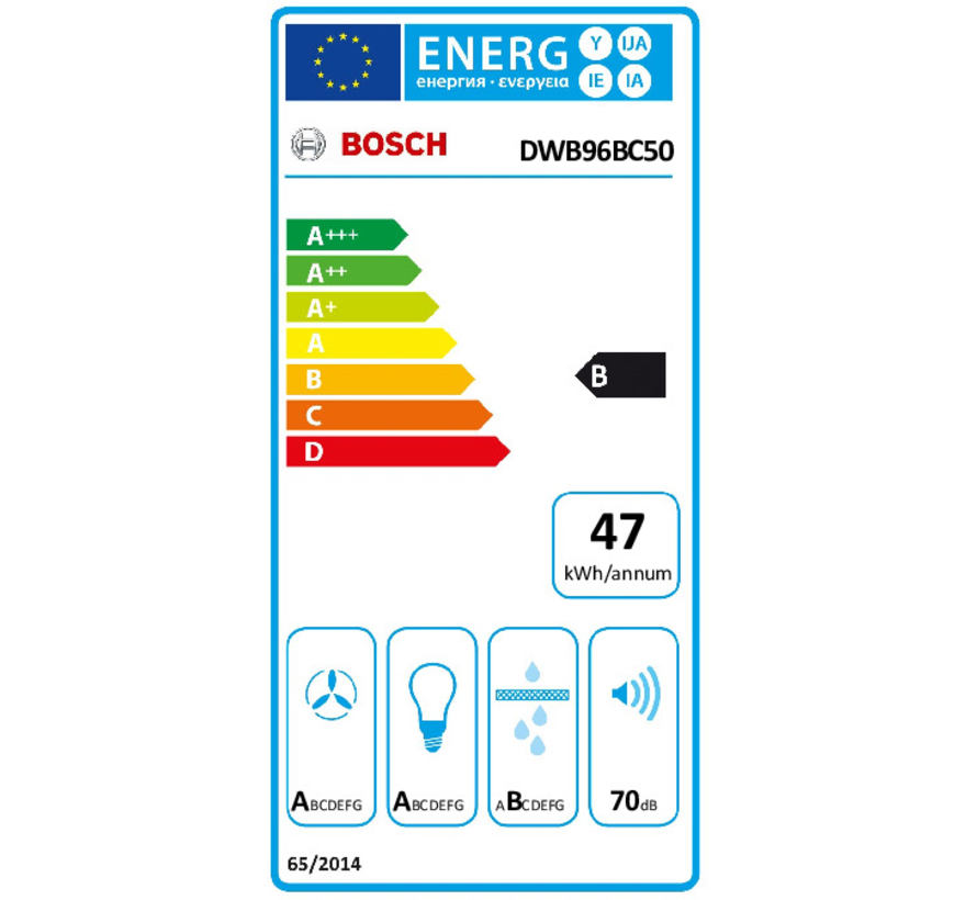 Bosch DWB96BC50 - Wandschouw afzuigkap