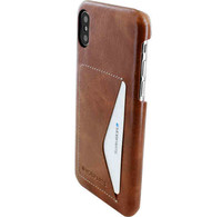 Mobiparts Mobiparts Excellent Backcover Apple iPhone X/XS Oaked Cognac