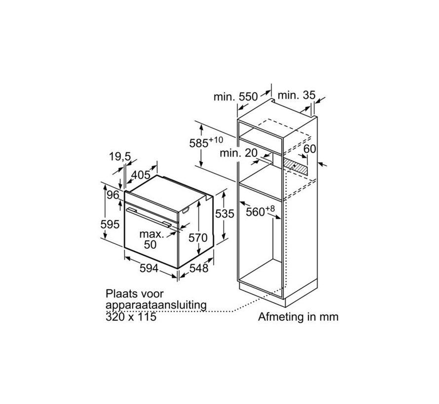 Bosch HBA513BS1 Inbouw Bakoven met EcoClean 60cm
