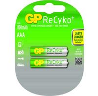 GP Batteries Duo GP ReCyko+ Pro Professional R03/AAA 800mAh oplaadbaar (2 stuks)
