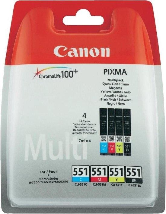Canon Inktcartridge CLI-551 Multipack