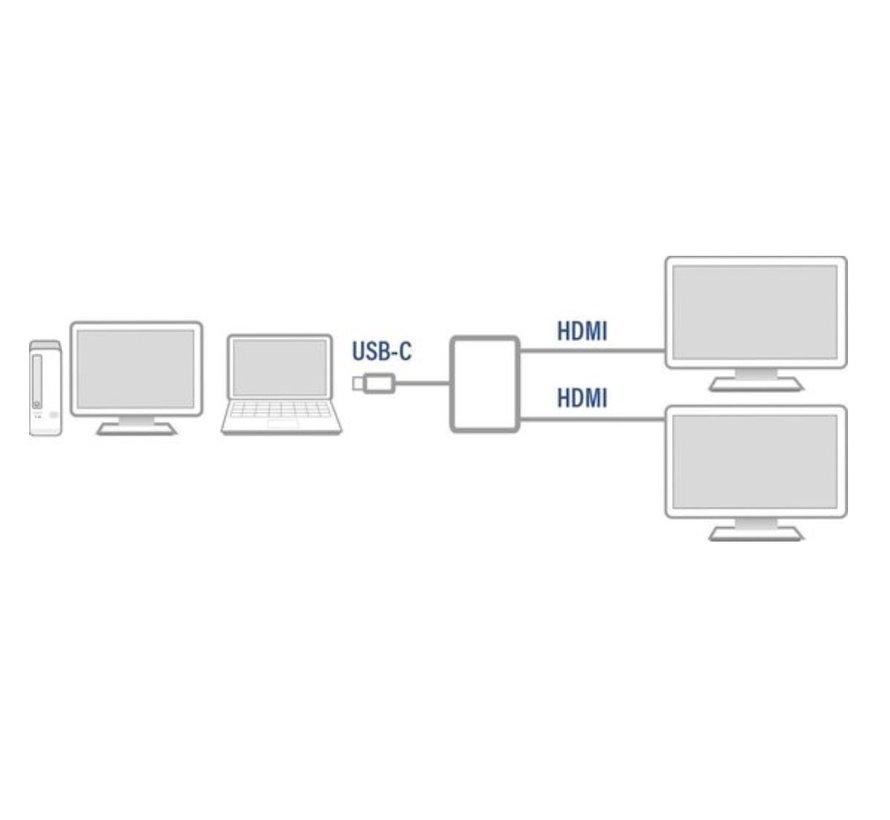 ACT AC7012 USB-C - 2 x HDMI adapter