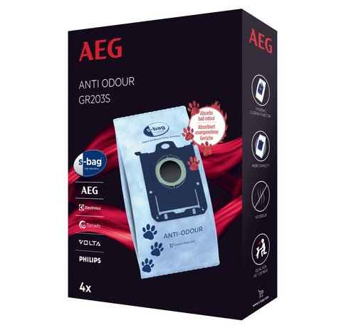 AEG AEG GR203S S-bag Anti-Odour 4 stuks Stofzuigerzakken