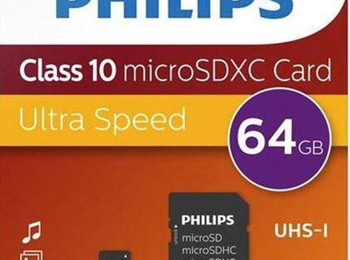 Philips  Philips 64GB Micro SDXC geheugenkaart