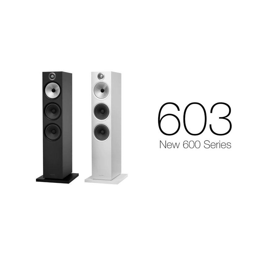 Bowers & Wilkins 603 Zwart Vloerstaande speaker