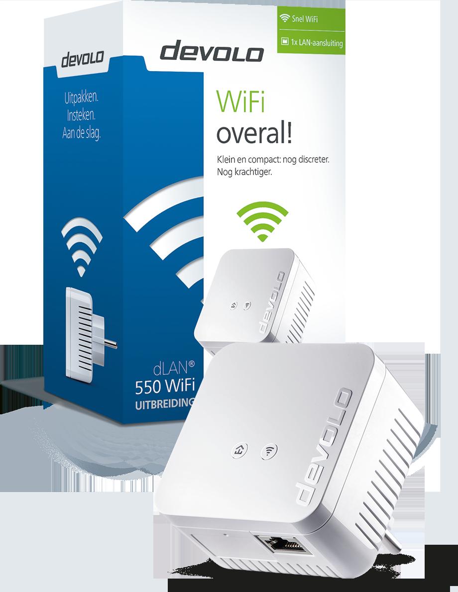 Devolo 9629 dLAN 550+ WiFi Powerline Adapter (uitbreiding)