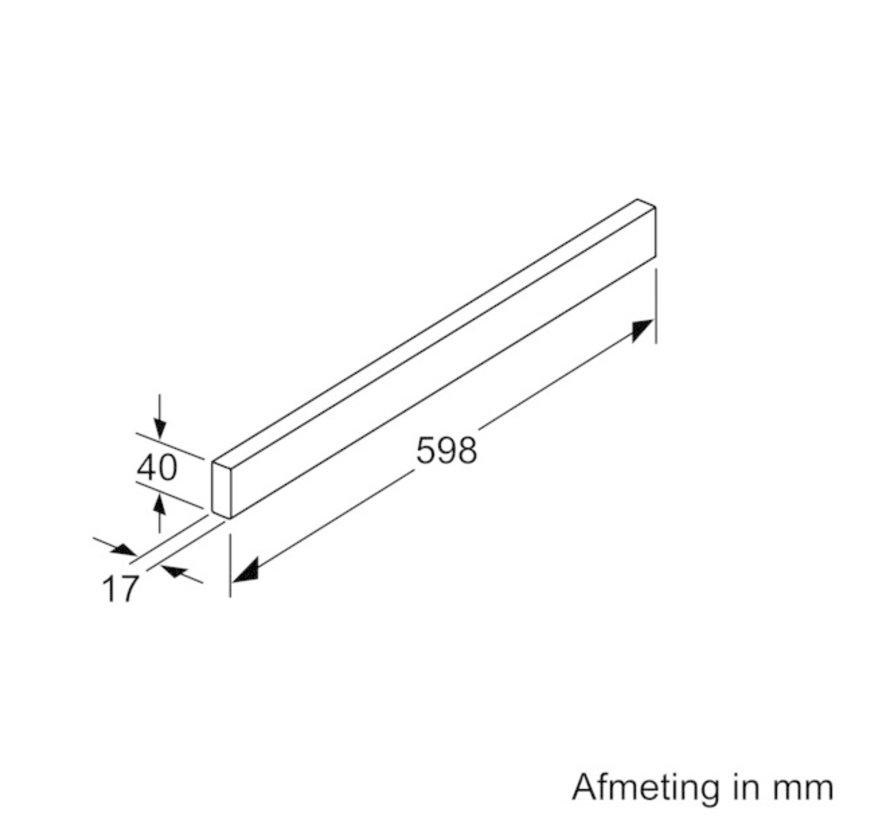 Bosch DSZ4655 RVS greeplijst