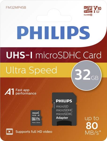 Philips 32GB Micro SDHC geheugenkaart