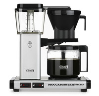 Moccamaster Moccamaster koffiezetapparaat KBG Select Matt Silver glaskan