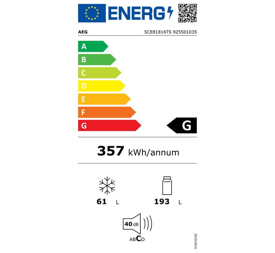 AEG SCE81816TS Inbouw koelvriescombinatie nis 178 cm