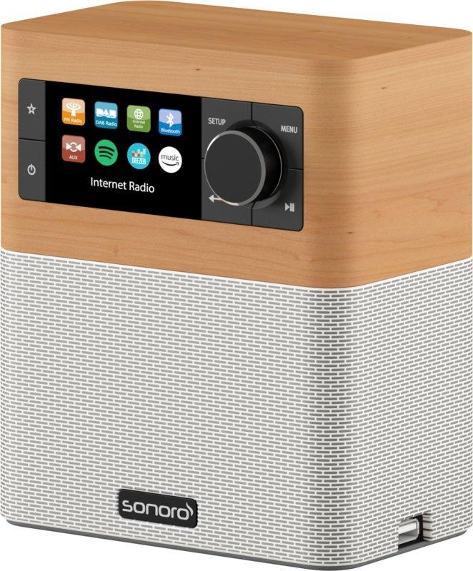 Sonoro Stream SO-410 V2 Maple/Wit Internetradio