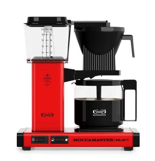 Moccamaster KBG Select Red met Glaskan Koffiezetapparaat