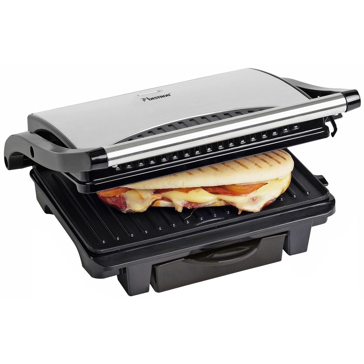 Bestron ASW113S RVS Panini grill