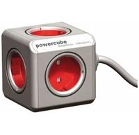 Allocacoc Allocacoc PowerCube Extended Rood 5-voudig Stekkerdoos