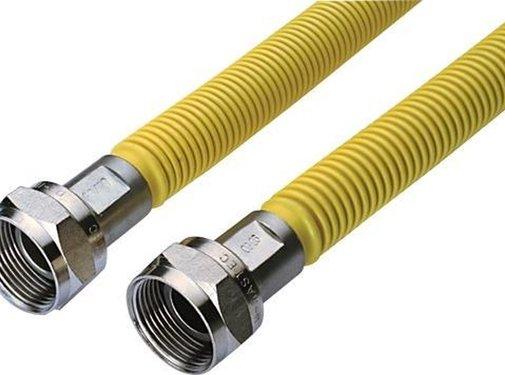Easyfiks Raminex gasslang ecoflex 120cm RVS (voor inbouw apparatuur)