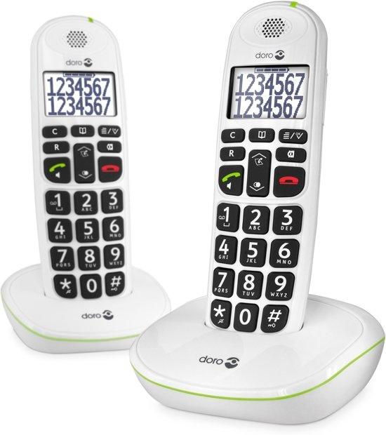 DORO Phone Easy 110 Duo Wit Huistelefoon