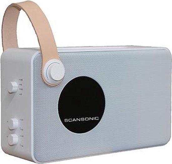 Scansonic PA4600wit FM/DAB+ bluetooth radio
