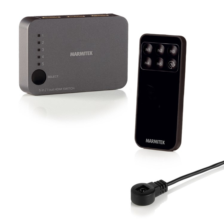 Marmitek Connect350UHD HDMI Splitter 5 input, 1output