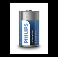 Philips  Philips Ultra Alkaline D/LR20 blister 2 batterijen