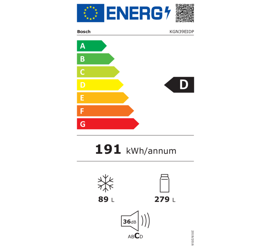 Bosch KGN39EIDP Vrijstaande koel-vriescombinatie