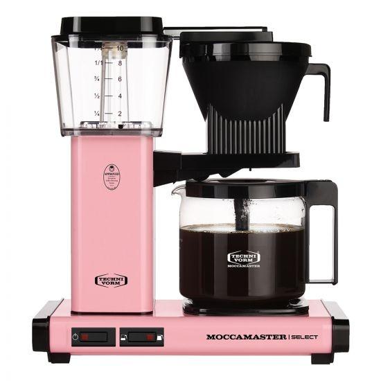 Moccamaster KBG Select Pink koffiezetapparaat met glaskan