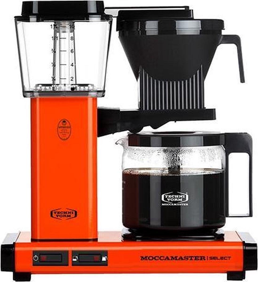 Moccamaster KBG Select Orange koffiezetapparaat met glaskan