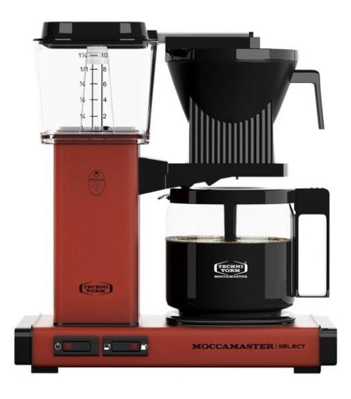 Moccamaster KBG Select Brick Red glaskan koffiezetapparaat