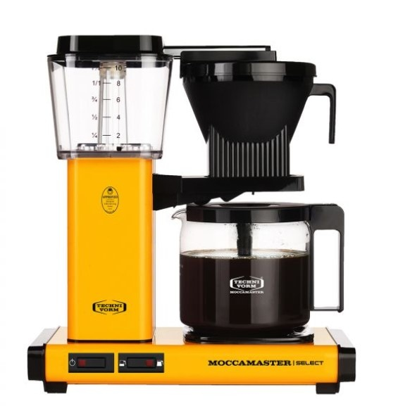 Moccamaster KBG Select Yellow Pepper koffiezetapparaat met glaskan