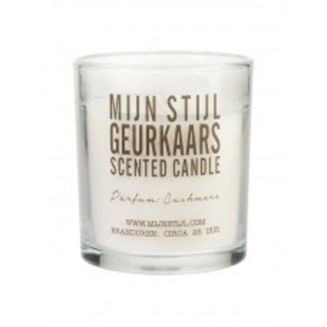 Geurkaars - glas  - Geur Cashmere