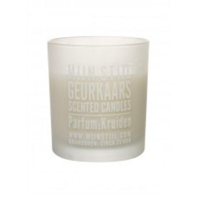 Geurkaars geur Kruiden in glas