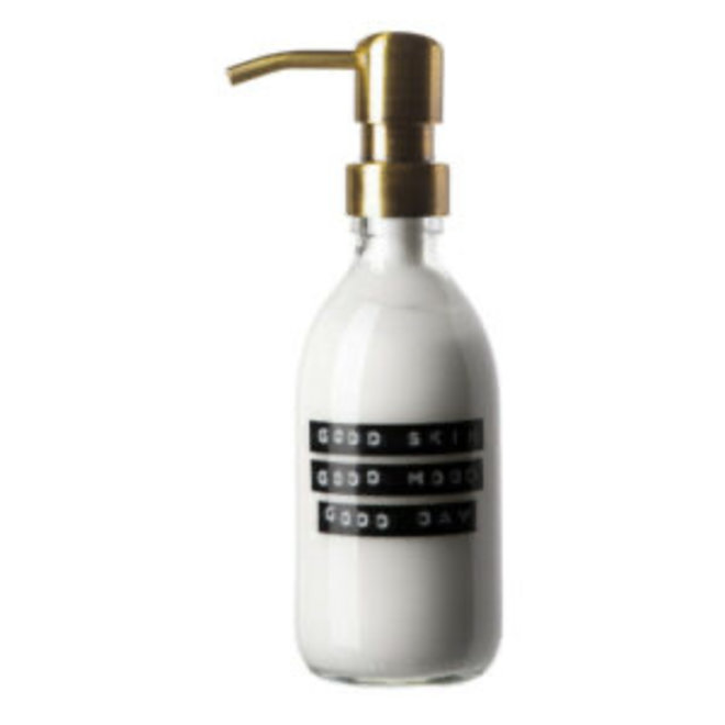 Hand lotion helder glas gouden dispenser