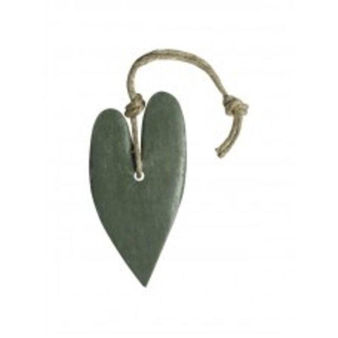 Zeep hart XL  -  (leger)groen - Geur Olijf