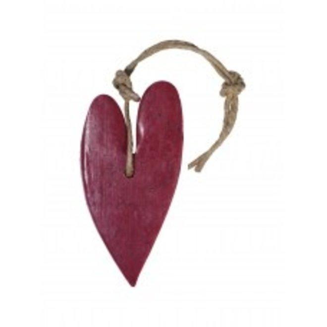 Zeep Hart XL - Kersenrood met cranberrypit - Geur  Vijg