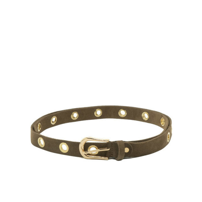 Riem Avery - Suede - Taupe - goud