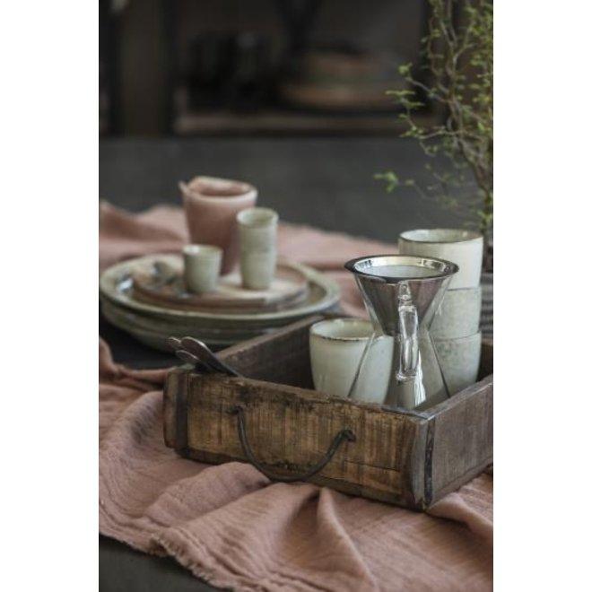 Houten baksteen mal met handvaten