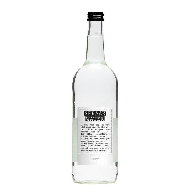 Flessenwerk - spraakwater