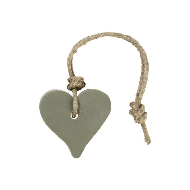 Zeep hart - groen/grijs - geur Olijf