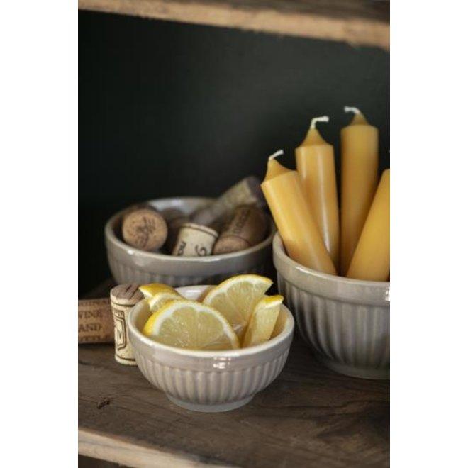 Kort diner kaasje - mosterd geel