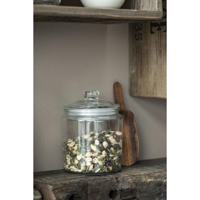 IB Laursen glazen pot met glazen deksel en rubberen ring - 900 ml